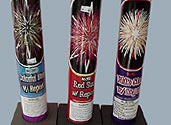 #200 AERIAL TUBES WITH BANGS COLORFUL STAR, RED STAR, and WHITE STAR Image