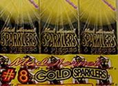 MAD HORNET GOLD SPARKLERS Image