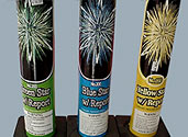 #200 AERIAL TUBES WITH BANGS GREEN STAR, BLUE STAR, and YELLOW STAR Image